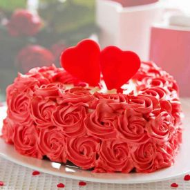 Flower Design Heart shape cake